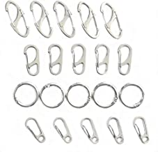 Mini Hanging Buckle, Pack of 20Pcs Metal Keychain Kit Clasps Climbing Carabiners Hook EDC Keychain