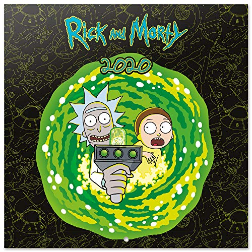 ERIK - Calendario de pared 2020 Rick & Morty, 30 x 30 cm (incluye póster de regalo)