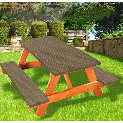 LEWIS FRANKLIN - Cortina de ducha abstracta de lujo para picnic, mantel de mesa, diseño vintage floral con borde elástico, 28 x 72 pulgadas, juego de 3 piezas para mesa plegable