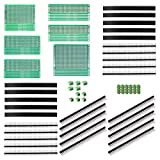 ALLDREI 100 Pcs Double Sided PCB Board Prototype Kit for DIY Soldering Compatible with Ard...