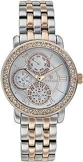 Titan Purple - Glam Gold Analog White Dial Women's Watch -NK9743KM01