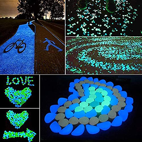 LYDIANZI 100/200pcs Glow In The Dark Garden Pebbles Glowing Rocks Glow Decorative Stones Rocks, Luminous Pebbles For Garden Path Patio Lawn Yard, Aquarium, Walkway, Fish Tank, P(Color:100Pcs Hot Pink)