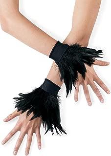 black feather wrist cuffs