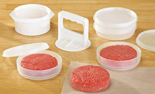 Hamburger Press , Patty Maker And Freezer Containers All In One Convenience - 10 Pieces Set By CTD Store