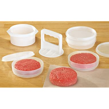 Hamburger Press, Patty Maker And Freezer Containers All In One Convenience - 10 Pieces Set By CTD Store