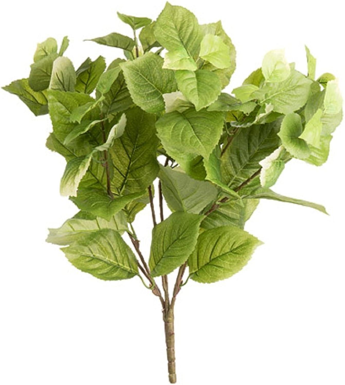 Darice 30044860 Hydrangea Leaf Bush, 14  x 20 , Green, 1ct