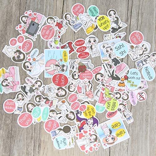 JZLMF Paquete de pegatinas de moda, para niñas, libro de recortes, cuaderno de notas, vaso de agua, decoración, 40 unidades
