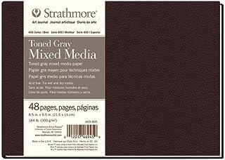 "Strathmore (469-405 400 Series Hardbound Toned Gray Mixed Media Art Journal, 8.5""x5.5"", 24 Sheets"