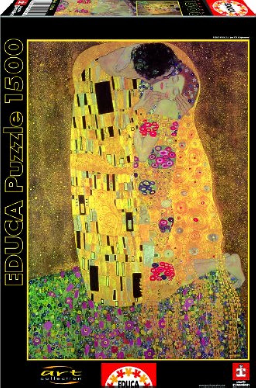 Educa 13794 - Der Kuss, Gustav Klimt-Puzzle, 1500 Teile