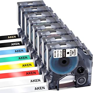 Compatible Label Tape 12mm Replacement for DYMO LabelManager 160 210D 260P 280 360D 420P 450D PnP 500TS Label Maker, Black on Red/Yellow/Blue/Green, White/Gold on Black, 1/2 Inch x 23 Feet