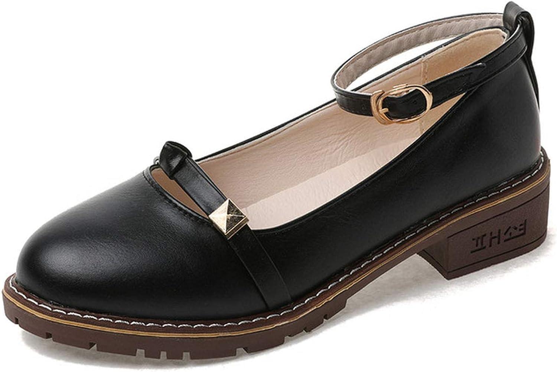 Be fearless Women Low Heels Fashion Platform Female Spring shoes Chunky Heel Flat shoes Casual Footwear
