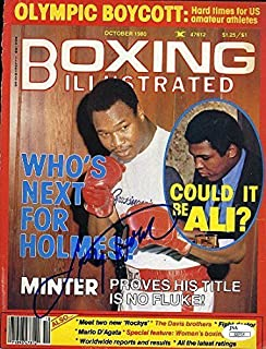 LARRY HOLMES JSA SIGNED MAGAZINE COVER AUTOGRAPH AUTHENTIC