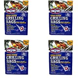 Kingsford Extra Tough Aluminum Grill Bags, for Locking in Flavors & Easy Grill Clean Up, Recyclable & Disposable, 15.5' x 10', Pack of 4 (4)