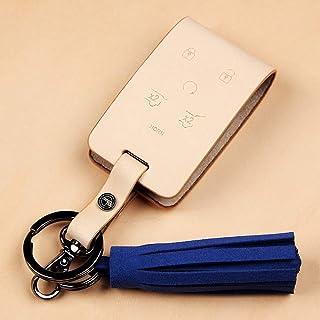 Compatibale with GMC Yukon Premium Zelenpol Keychain FOB Case Leather Smart Key case