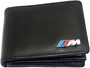 S-WEKA M Line Genuine Leather Car licence bag for BMW M E30 E34 E36 E39 E46 X5 E53 E60 E61 E70 E90 F10 F20 F30 X1 X3 X6 Z4(black)