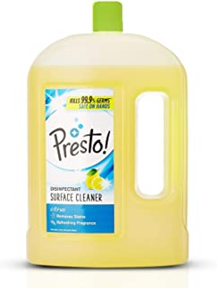 Amazon Brand - Presto! Disinfectant Floor Cleaner Citrus, 2 L