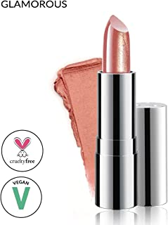 Super Moisturizing Lipstick by Luscious Cosmetics - Unique Smooth & Creamy Formula - Vegan | Cruelty Free | Lead Free | Color - Glamorous - 0.12 Ounce