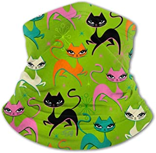 SHOUNENN Miss Cat Kids Neck Half Face Protective Masks Reusable Washable Balaclava Gaiter