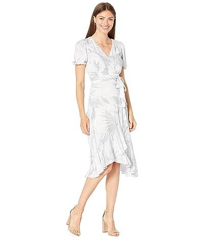 Calvin Klein Printed Faux Wrap Dress