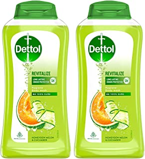 Dettol Body Wash and Shower Gel, Revitalize - 250ml Each (Pack of 2)