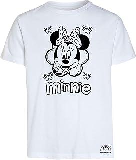 Mister Patch Idea Regalo per Bambini - Maglietta t-Shirt da colorare con Colori Inchiostro Speciale per Tessuti - Minnie e...