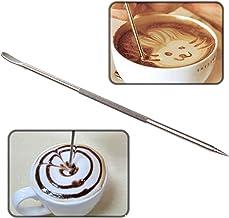Bol/ígrafo de caf/é el/éctrico funciona con canela//sal//az/úcar blanco//molinillos de caf/é fino para caf/é con leche y comida para bricolaje blanco Latte Pen