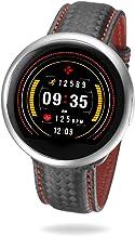 MyKronoz ZeRound2HR Premium - Smartwatch con Monitor de Ritmo cardíaco, micrófono Incorporado y Altavoz, Color Plata y Negro