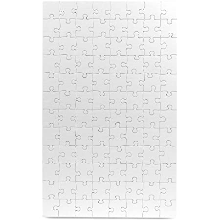 """Hygloss Products, Inc Blank Puzzle for Decorating Kids Art Activity, Use This Jigsaw As Party Favors, DIY Invites and More-White, Sturdy – 10 x 16 Inches, 96 Pieces, 24, 10"""" x 16"""""""