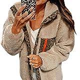 Updayday Mujeres Soft Teddy Sherpa Blur Fleece Chaqueta de L