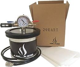 ABLAZE Small Mini 2 Quart Vacuum Chamber Stainless Steel Degassing Urethanes Silicone Epoxies