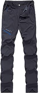 SUKUTU Hombre Pantalones Ligeros de montaña de Trekking de montaña de Secado rápido Impermeable de Escalada Senderismo Transpirable Aire Libre Pantalones
