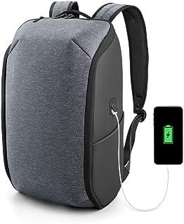 Kingsons ビジネスリュック リュックサック バックパック 軽量デザイン 大容量 盗難防止 USB充電ポート 防水15インチパソコン対応 撥水加工 人気 通勤通学 メンズ グレー