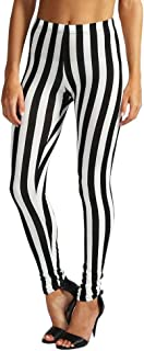 Payeel Women's Leggings Striped Patterns Stretchy Leggings