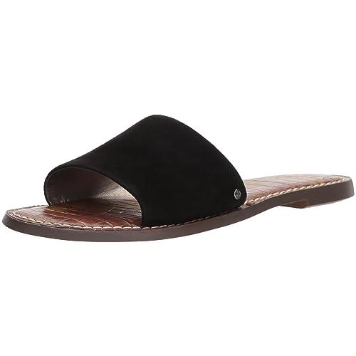 cda62ad2c34e Women s Leather Slide Sandals  Amazon.com