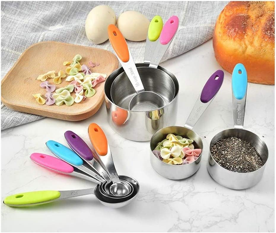 Measuring cups and spoons set an High order Max 82% OFF Spoon Stainless Steel