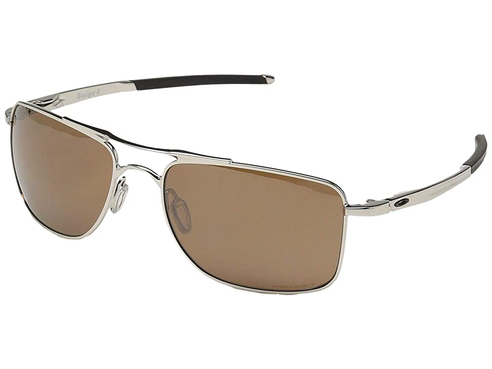 Oakley Gauge 8 M (Polished Chrome w/ Prizm Tungsten Polar) Sport Sunglasses