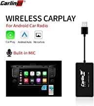 Carlinkit Wireless Carplay Dongle USB Adapter with Mic for Android Head Unit (Android Navigation Player) with Android Auto USB Smart Link, Bluetooth/Support iOS13 Split Screen/Car Stereo