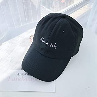 Lei Zhang Xia Jiqing New Japanese Casual Soft-top Letter Embroidery Baseball Cap Spring and Summer hat Men and Women Retro Tide (Color : AlsoBlack, Size : Adjustable)
