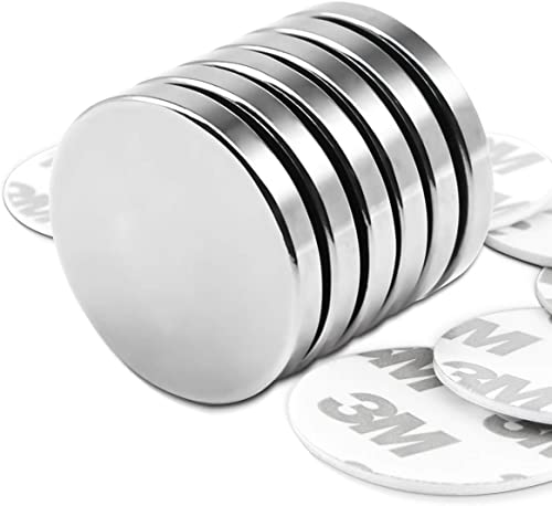 Powerful Neodymium Disc Magnets with Double-Sided Adhesive, Strong Permanent Rare Earth Magnets for Fridge, DIY, Buil...