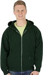 CottonMill Men's 100% Cotton Zip Up Heavyweight Sweatshirt
