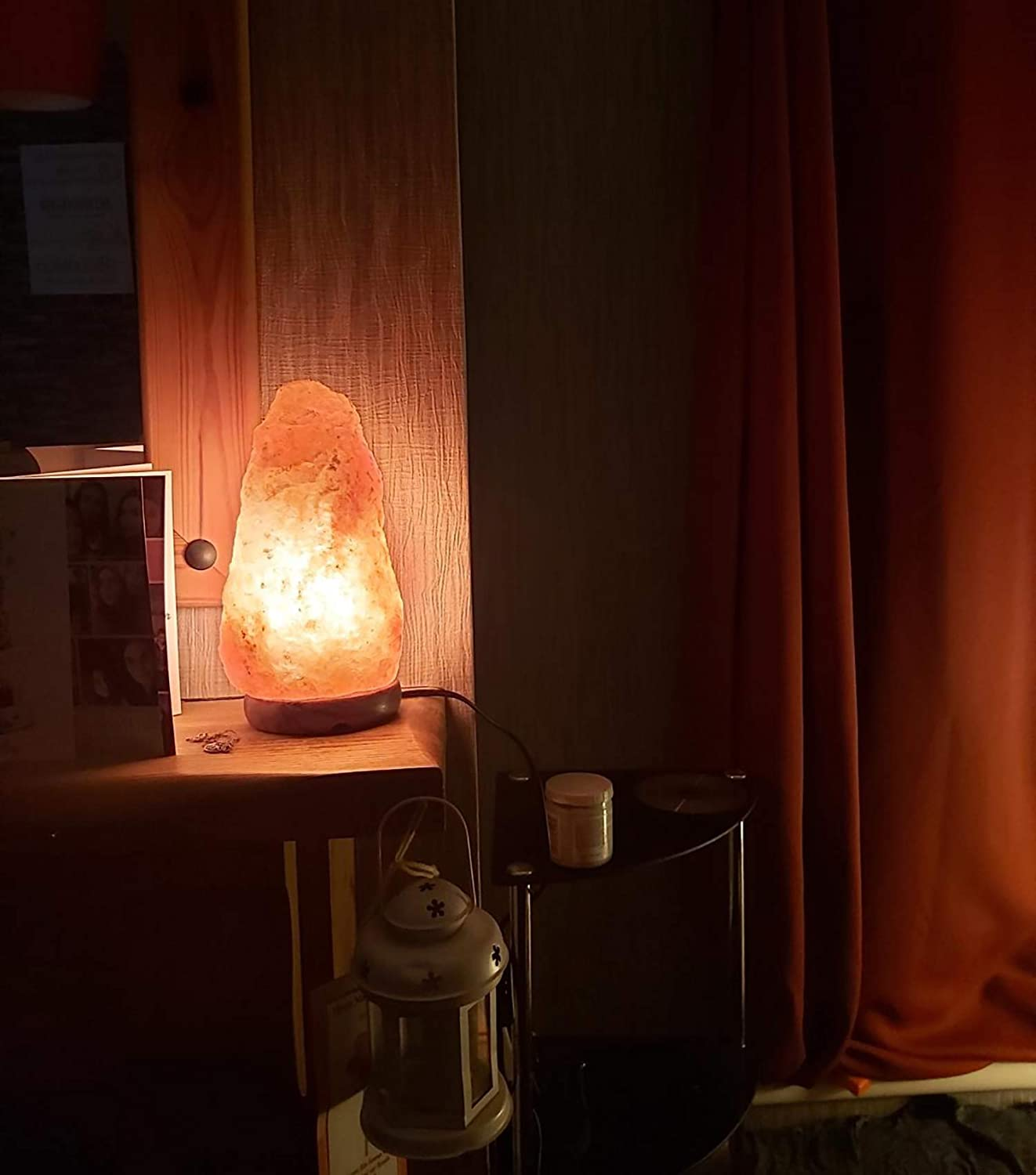 Hand Carved Natural from Foothills of The Himalayas Gift Accessory with Button Cable /& CE Certified Plug for Christmas /& Birthday Party 5-7 Himalayan Crystal Rock Salt Lamp