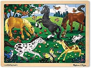 Melissa & Doug 48pc Wooden Jigsaw Puzzle - Frolicking Horses