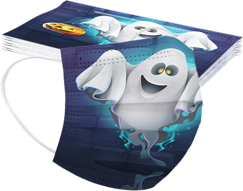 MaNMaNing Mascarillas Niños 10 Unidades Halloween Mascarillas con Elástico para Los Oídos MANING-DG10