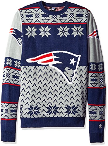 Klew Ugly Sweater New ENGLAND Patriots, X-Large