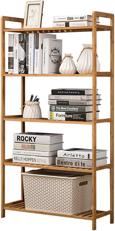 Bookcases Bookshelf Storage Display Rack Storage Locker Display Stand Shelf Flower Rack Storage Rack (color   Beige, Size   68  25  128cm)