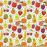 ABAKUHAUS Früchte Stoff als Meterware,