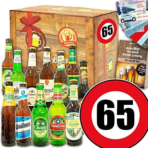 Ideen 65. Geburtstag/Bier Geschenk Welt und DE/Geschenk 65 Geburtstag Mann