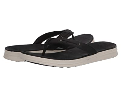Sperry Adriatic Thong Skip Lace Leather (Black) Women