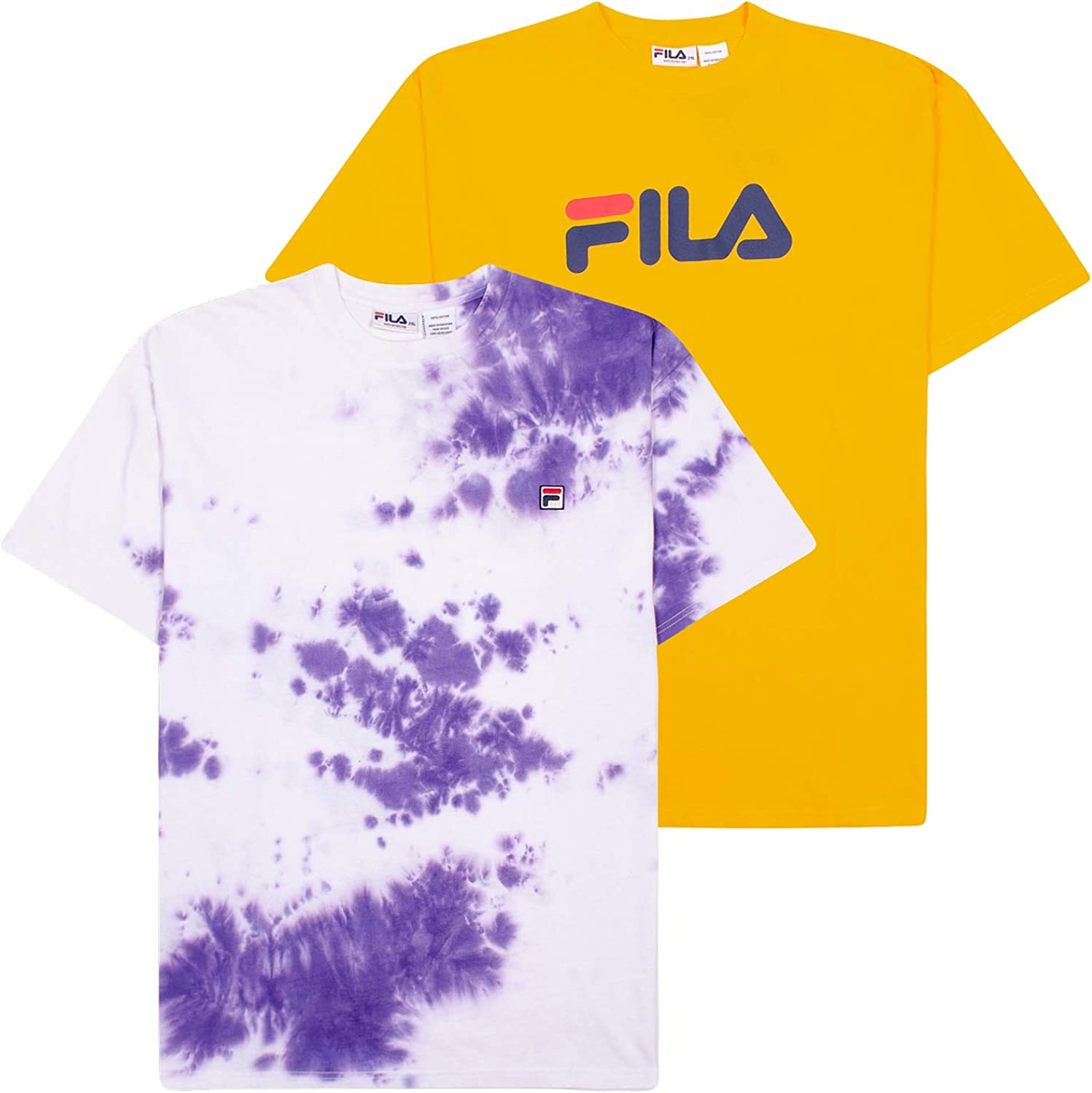 FilaBig & Tall T-Shirts for Men, Oversize Tees, 2 Pack