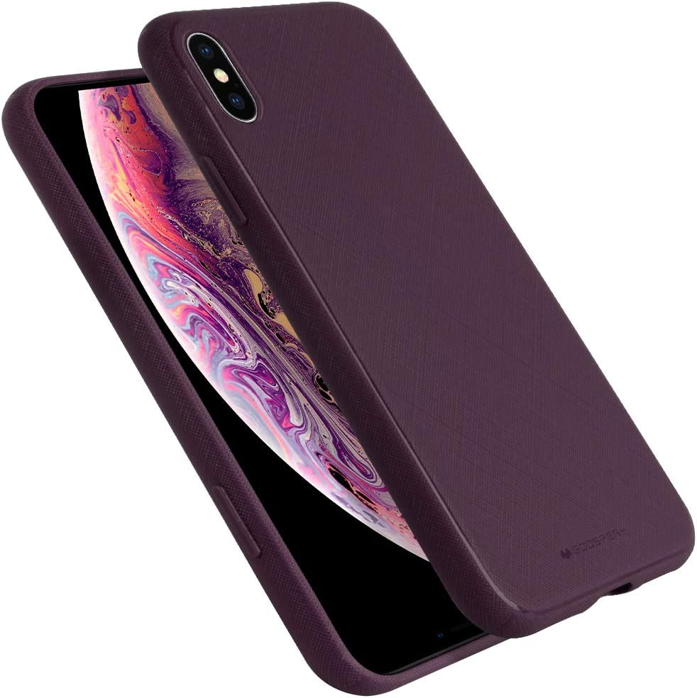 Goospery Style Lux Jelly for Apple iPhone Xs Max Case (2018) Thin Slim Bumper Cover (Purple) IPXSMAX-STYL-PPL